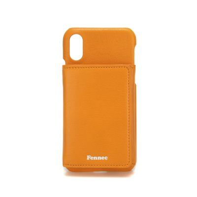 FENNEC LEATHER iPHONE X/XS TRIPLE POCKET CASE - MANDARIN