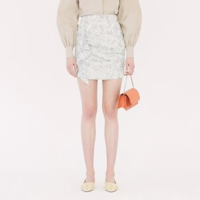 [가브리엘리] 19SS DOT PRINT CHIFFON MINI SKIRT - CREAM