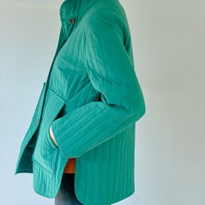 GREEN STRIPE QUILTED JACKET