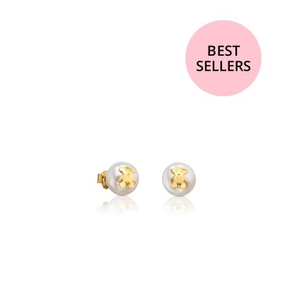 [최초출시가 330,000원]Gold TOUS Bear Earrings with Pearl/귀걸이/511000795