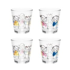 Poul Pava Icons water glass 4-pack 26 cl