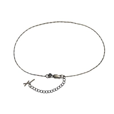 루메 블랙 앵클리스, Lume Black Anklet, 14k black gold
