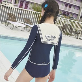 (SW-18382)TIED SAILOR RASHGUARD NAVY