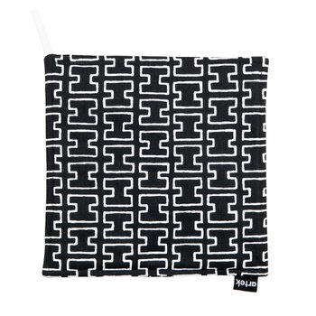 H55 POT HOLDER Black/White