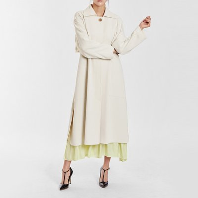 / feminine dress-like trench