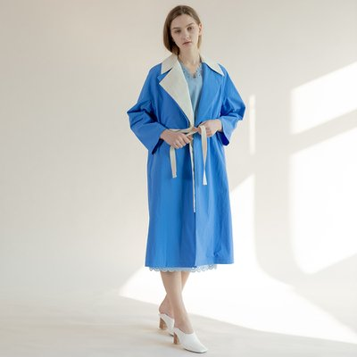 Vivid Trench Coat Blue/Green (TESLC06)