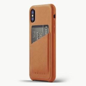 Leather Wallet Case for iPhoneX TAN