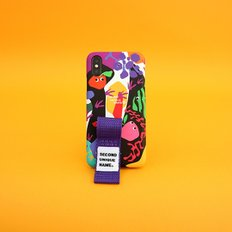 SUN CASE GRAPHIC FRUIT BLACK PURPLE(FINGER)