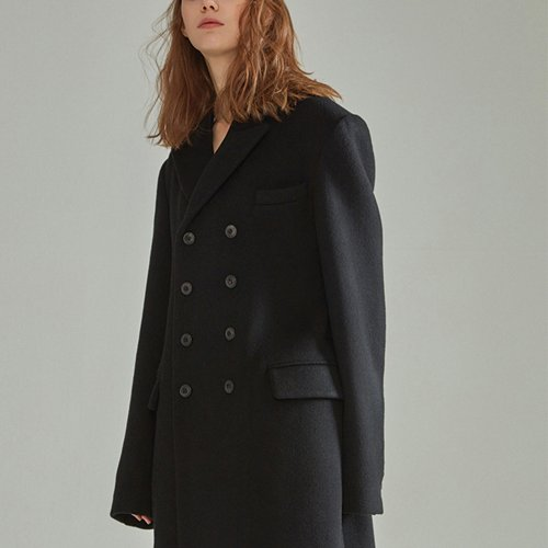 [NOHANT] DOUBLE COAT BLACK