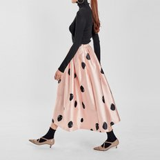 / glossy dotty full skirt
