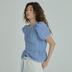 Puffy Volume Top - Blue