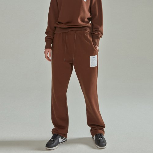 [NOHANT] NAME LABEL SWEATPANTS BROWN