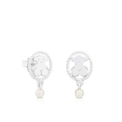 [최초출시가 105,000원]Silver Camee Earrings with Pearl /귀걸이/712323600