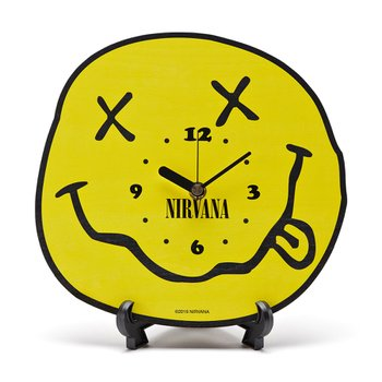 NIRVANA SMILE CLOCK YELLOW