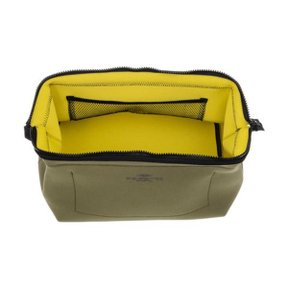 WIRED POUCH Large Olive x Yellow