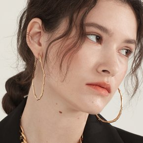 Honesty large hoop Earring (Gold)
