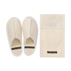 WAXED CANVAS PORTABLE SLIPPER SMALL WHITE