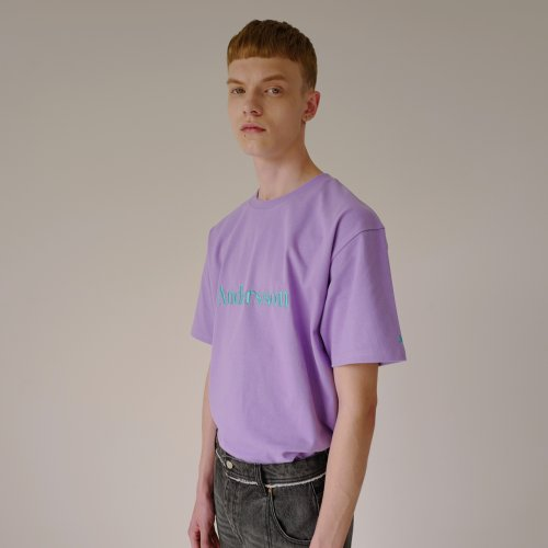 UNISEX ANDERSSON SIGNATURE EMBROIDERY TEE atb211u(LILAC)