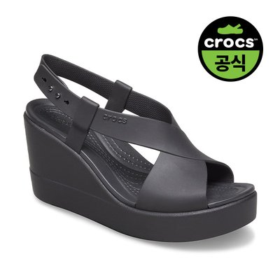 크록스공식 여성 CROCS BROOKLYN HIGH WEDGE W BLK (20SWWD206222)