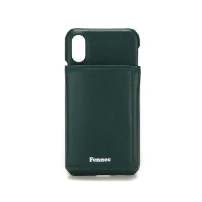 FENNEC LEATHER iPHONE X/XS TRIPLE POCKET CASE - MOSS GREEN