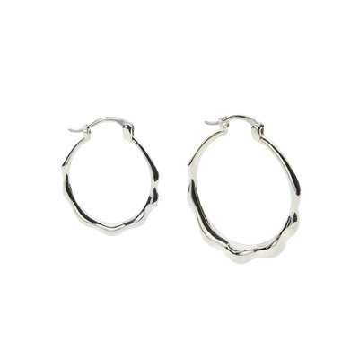 [레이브]Unbalance Ring Earrings in Silver VX0SX0520