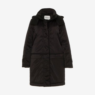 CAALO 칼로 CONVERTIBLE SATIN DOWN COAT BLACK 111B