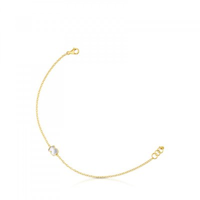 [최초출시가 323,000원]Gold and Mother-of-pearl XXS bear Bracelet/팔찌/812781030
