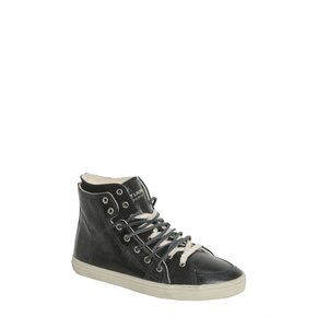 Saint laurent Distressed Leather High Top Sneakers FW17 4853110AR101000 DISTRESSED LEATHER HIGH TOP SNEAKERS (485311 0AR10 1000)