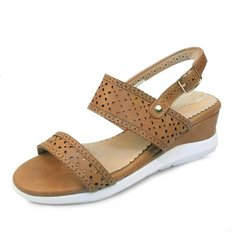 kami et muse Punching strap middle wedge sandals_KM18s311
