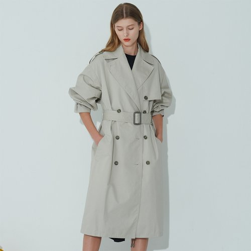 [SSG 특별혜택가][조셉안] GRAY OVERSIZE TRENCH COAT