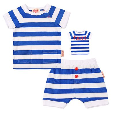 Basic flots baby blue stripe set / BP7224149