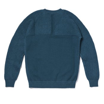 CONTRAST ROUDNECK KNIT 청록