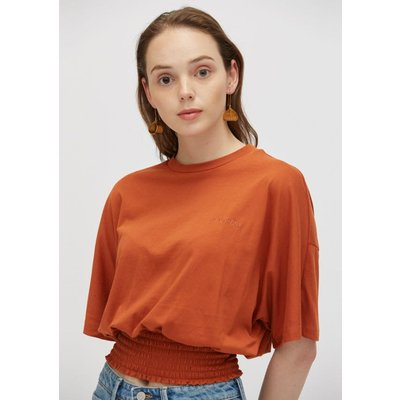 [19S/S] WOMENS SMOCKING CROP T-SHIRTS PWON2RSR82W0W1