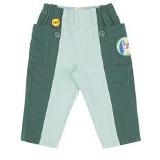 Puppy baby out pocket color block chino pants