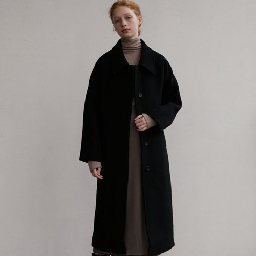 [슬로우무브]Brush wool coat-Black