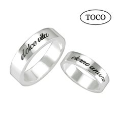 925 Silver Initial Couple Ring