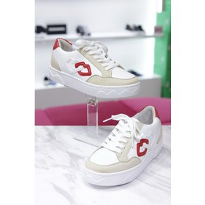 [파주점] 헬레나앤크리스티[HELENA AND KRISTIE] 9357 WHITE SNEAKERS KISS (9357  WHITE SNEAKERS KISS)