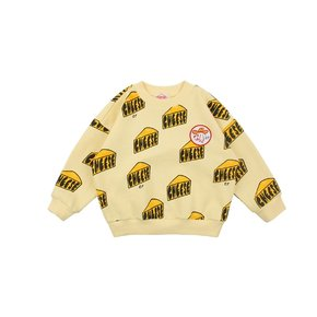 Multi cheese loose fit sweatshirt