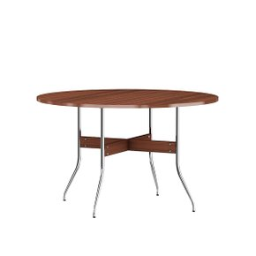 Nelson Swag Leg Dining Table Round (Walnut)