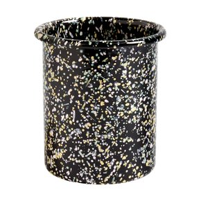 ENAMEL UTENSIL HOLDER SPRINKLE BLACK