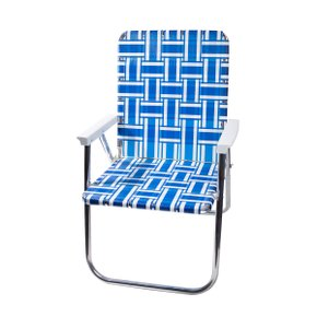 Deluxe Chair Blue and White