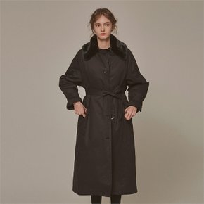 FUR MILITARY PADDING COAT_BLACK (2050128)
