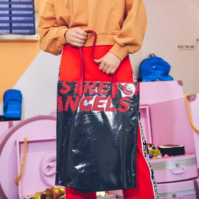 [L.C.C] Slim tote bag (Red)
