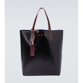 Marni PVC tote bag with logo P00527346 멀티컬러/BLACK+ECLIPSE+EGGPLANT[마이테레사맨]