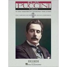 Play Puccini : 10 Arias Transcribed for Violin and Piano (Paperback+CD)