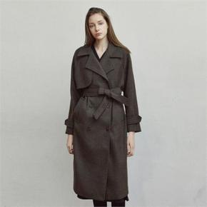 WOOL TRENCH LONG COAT_BROWN (3613684)