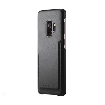 Full Leather Wallet Case for Galaxy S9 BLACK