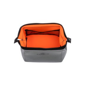WIRED POUCH Small Light Gray x Orange