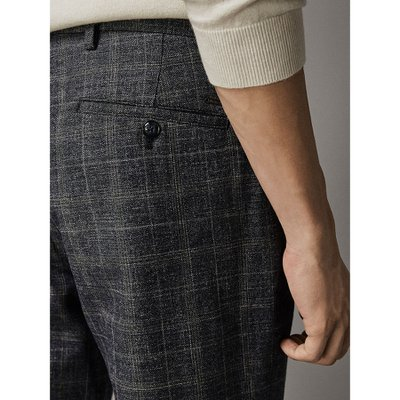CHECKED SLIM FIT TROUSERS 00025029401