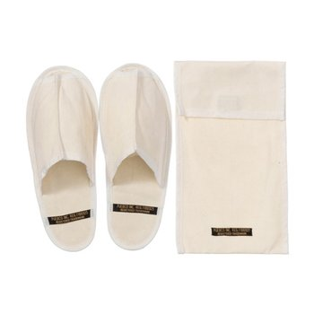WAXED CANVAS PORTABLE SLIPPER LARGE WHITE